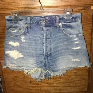 Abercrombie and Fitch High Rise Festival Shorts